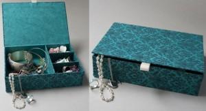 boite à bijoux en carton