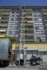 Eurêka déménagements - Déménagement avec un monte-charge au 10ème étage d'un immeuble